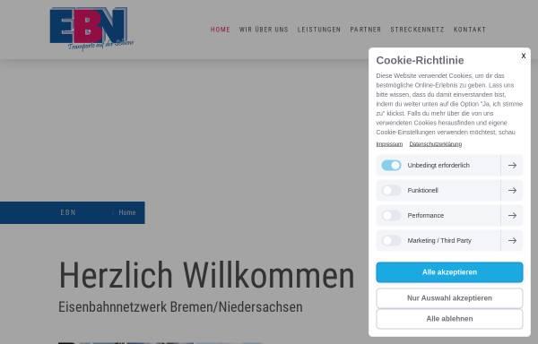 Vorschau von www.ebn-d.de, Eisenbahnnetzwerk Bremen/Niedersachsen