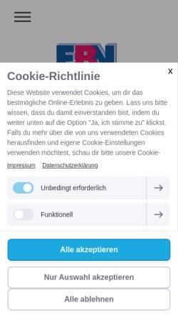 Vorschau der mobilen Webseite www.ebn-d.de, Eisenbahnnetzwerk Bremen/Niedersachsen