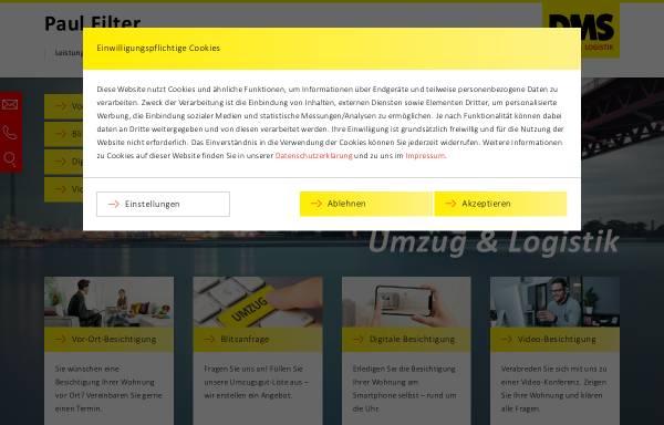 Vorschau von filter-umzug.de, Paul Filter Möbelspedition GmbH