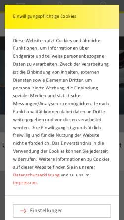 Vorschau der mobilen Webseite filter-umzug.de, Paul Filter Möbelspedition GmbH