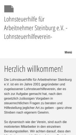 Vorschau der mobilen Webseite www.vlfa.de, Lohnsteuerhilfe für Arbeitnehmer e.V. Steinburg