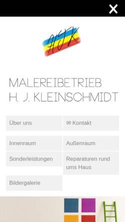 Vorschau der mobilen Webseite www.malerei-kleinschmidt.de, Malerei Kleinschmidt