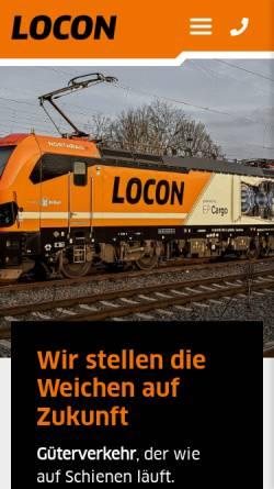 Vorschau der mobilen Webseite www.locon-ag.de, Locon Logistik & Consulting AG