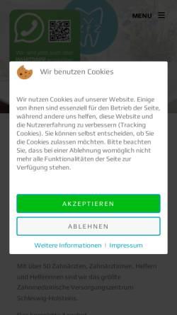 Vorschau der mobilen Webseite www.zahnarztpraxis-horst.de, Zentrum für Zahnheilkunde Westholstein