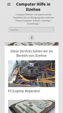 Vorschau der mobilen Webseite www.tip-iz.de, Computer Hilfe in Itzehoe, Valentino Piras