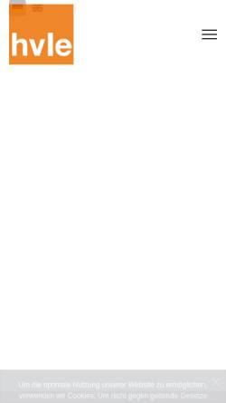 Vorschau der mobilen Webseite www.hvle.de, OHE Osthavelländische Eisenbahn AG