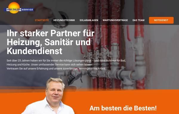 Vorschau von www.dirkehlers-service.de, Dirk Ehlers Heizungs- u. Sanitärtechnik