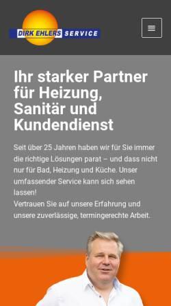Vorschau der mobilen Webseite www.dirkehlers-service.de, Dirk Ehlers Heizungs- u. Sanitärtechnik