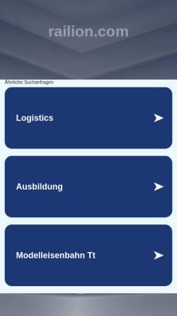 Vorschau der mobilen Webseite www.railion.com, Railion Deutschland AG