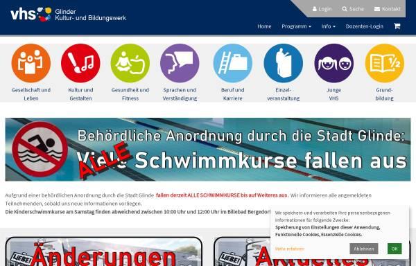 Vorschau von www.vhs-glinde.de, Volkshochschule Glinde