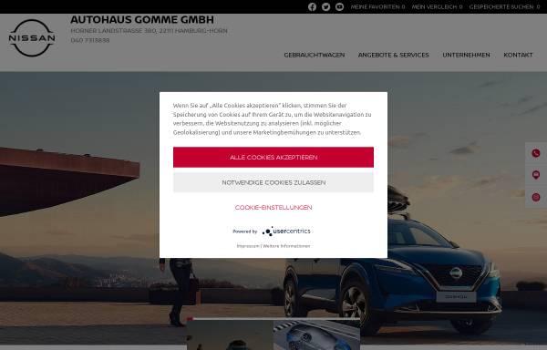 Vorschau von www.gomme.de, Autohaus Gomme - Nissan