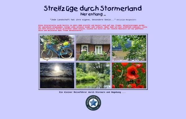 Vorschau von www.stormerland.de, Streifzüge durch Stormerland