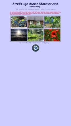 Vorschau der mobilen Webseite www.stormerland.de, Streifzüge durch Stormerland