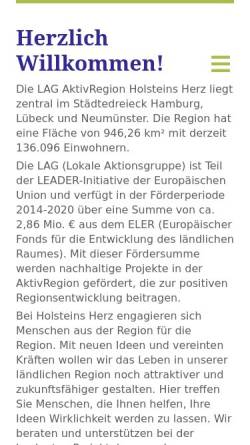 Vorschau der mobilen Webseite www.holsteinsherz.de, Holsteins Herz e.V.