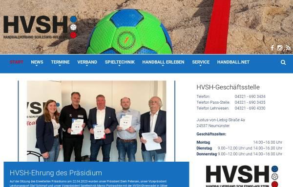 Vorschau von www.hvsh.de, Handball-Verband Schleswig-Holstein e.V.