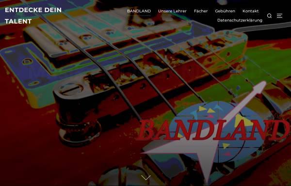 Vorschau von www.bandland.de, Musikschule Bandland