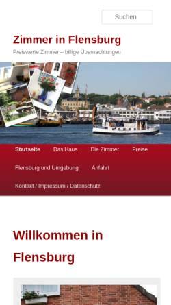 Vorschau der mobilen Webseite zimmer-flensburg.net, Zimmer in Flensburg
