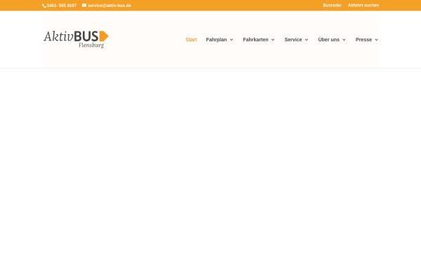 Vorschau von www.aktiv-bus.de, Stadtbus Flensburg