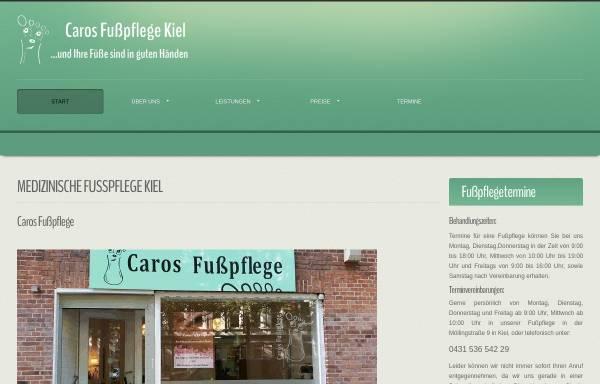 Vorschau von kiel-fusspflege.de, Caros Fußpflege