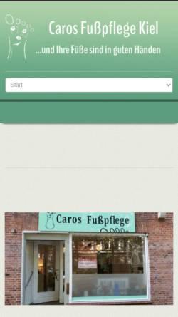 Vorschau der mobilen Webseite kiel-fusspflege.de, Caros Fußpflege