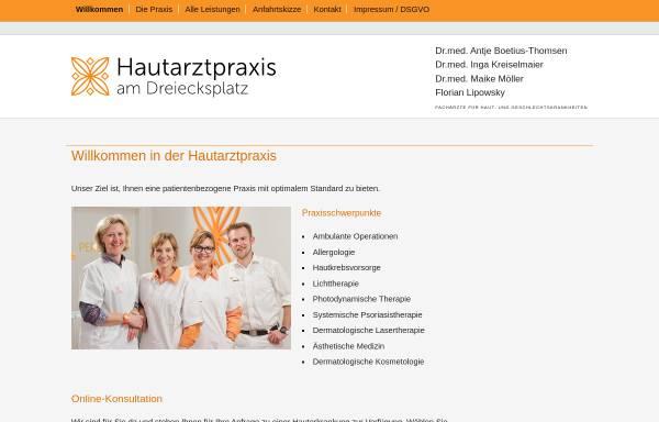 Vorschau von haut-3-kiel.de, Hautarztpraxis am Dreiecksplatz