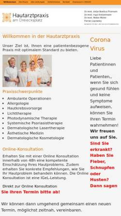 Vorschau der mobilen Webseite haut-3-kiel.de, Hautarztpraxis am Dreiecksplatz