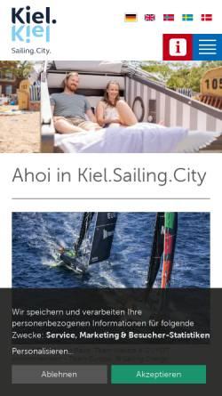 Vorschau der mobilen Webseite www.kiel-sailing-city.de, Kiel Sailing City