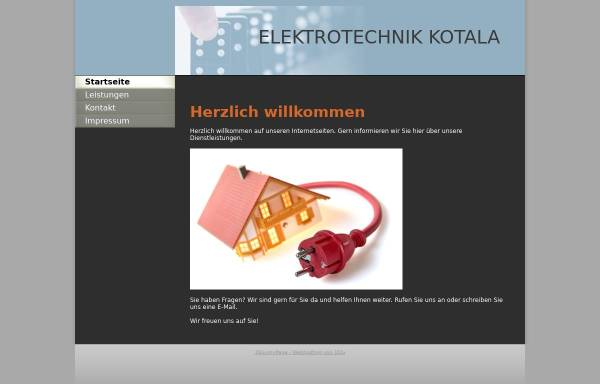 Vorschau von www.95986.webhosting31.1blu.de, Elektrotechnik Ryszard Kotala