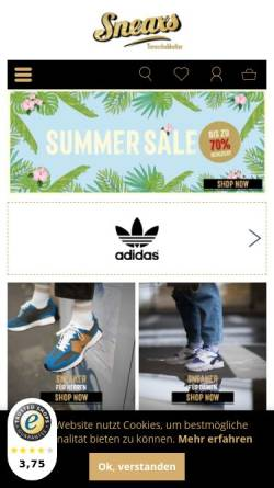 Vorschau der mobilen Webseite www.sneaxs.de, Sneaxs GmbH
