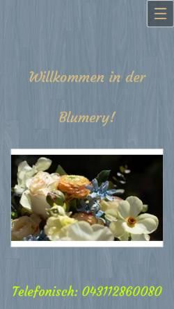Vorschau der mobilen Webseite www.blumery.de, Blumery