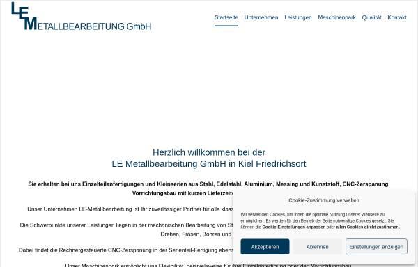 Vorschau von www.le-metallbearbeitung.de, LE Metallbearbeitung GmbH