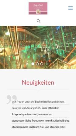 Vorschau der mobilen Webseite www.gabyloewel.de, Stuhl- und Tischverleih Gaby Löwel