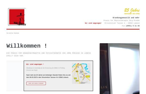 Vorschau von www.krankengymnastikluebeck.de, Krankengymnastik am St.-Jürgen-Ring in Lübeck