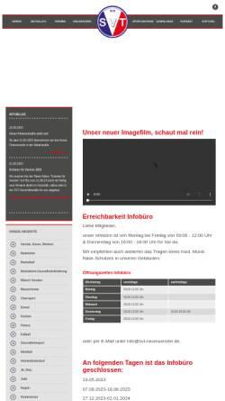 Vorschau der mobilen Webseite www.svt-neumuenster.de, Sportverein Tungendorf Neumünster von 1911 e.V.