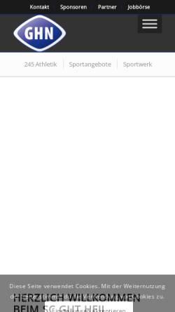 Vorschau der mobilen Webseite www.sport-in-neumuenster.de, Sport in Neumünster