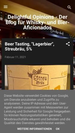 Vorschau der mobilen Webseite www.whisky-afficionado.com, Scotch Malt Whisky Society, Deutschland