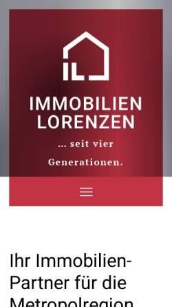 Vorschau der mobilen Webseite www.immobilien-lorenzen.de, Immobilien Lorenzen GmbH & Co. KG