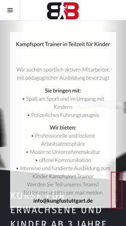Vorschau der mobilen Webseite www.kungfustuttgart.de, Kung Fu Academy