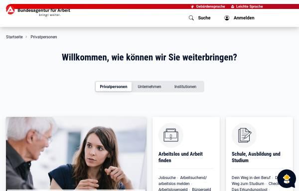 Vorschau von www.arbeitsagentur.de, Bundesagentur für Arbeit