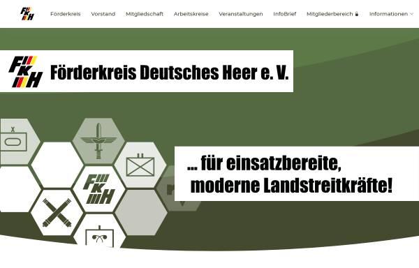 Vorschau von www.fkhev.de, Förderkreis Deutsches Heer e.V.