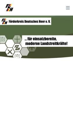 Vorschau der mobilen Webseite www.fkhev.de, Förderkreis Deutsches Heer e.V.
