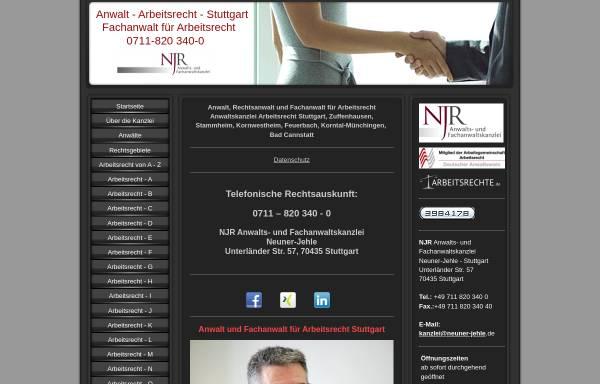 Vorschau von www.arbeitsrechtler-stuttgart.de, Kanzlei für Arbeitsrecht