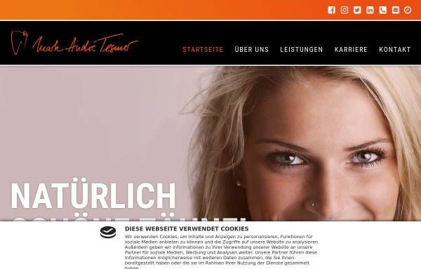 Vorschau von zahnarzt-tesmer.de, Zahnarztpraxis Marc Andre Tesmer