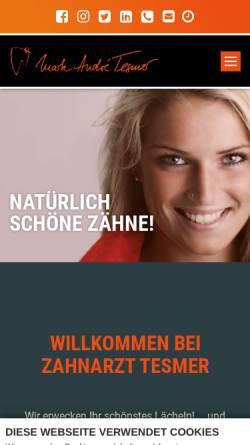 Vorschau der mobilen Webseite zahnarzt-tesmer.de, Zahnarztpraxis Marc Andre Tesmer