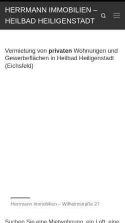 Vorschau der mobilen Webseite www.herrmannimmobilien.de, Herrmann Immobilien