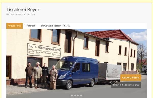 Vorschau von www.tischlerei-beyer.de, Tischlerei Hartmut und Jürgen Beyer