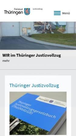 Vorschau der mobilen Webseite www.thueringen.de, JVA Untermaßfeld - Freistaat Thüringen