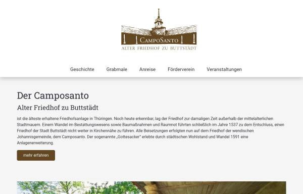 Vorschau von www.alter-friedhof-buttstaedt.de, Alter Friedhof zu Buttstädt - Camposanto