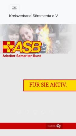 Vorschau der mobilen Webseite www.asbsoemmerda.de, ASB Kreisverband Sömmerda e.V.
