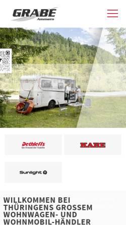 Vorschau der mobilen Webseite camping-grabe.de, Camping Grabe GmbH & Co. KG